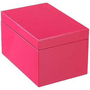 Large Lacquered Rectangular Box Fuchsia