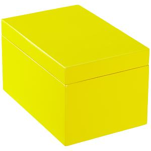 Large Lacquered Rectangular Box Yellow