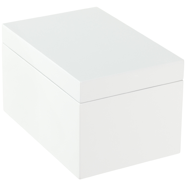 Large Lacquered Rectangular Box White