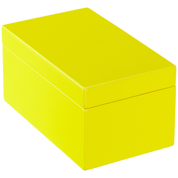 Medium Lacquered Rectangular Box Yellow