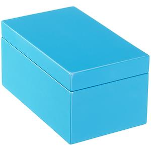 Medium Lacquered Rectangular Box Blue