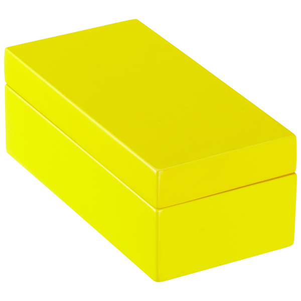 X-Small Lacquered Rectangular Box Yellow