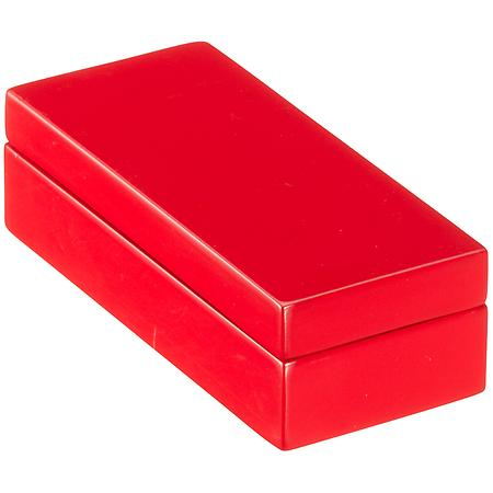 Mini Lacquered Rectangular Box Red