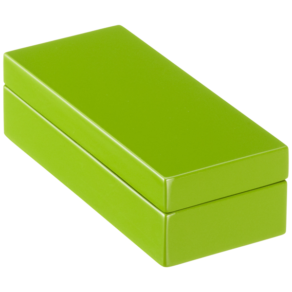 Mini Lacquered Rectangular Box Green
