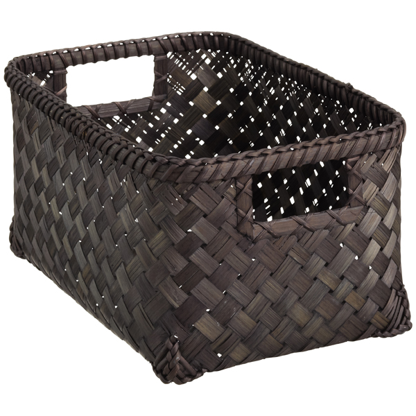 Small Weave Bin Black