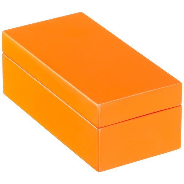 Orange Lacquered Storage Boxes · X Small Lacquered Rectangular Box Orange  ...