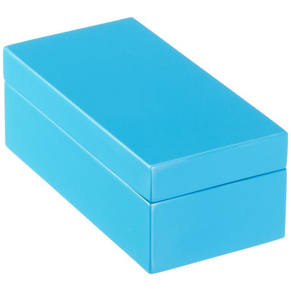 Superieur Blue Lacquered Storage Boxes · Mini Lacquered Rectangular Box Blue ·  X Small Lacquered Rectangular Box Blue ...