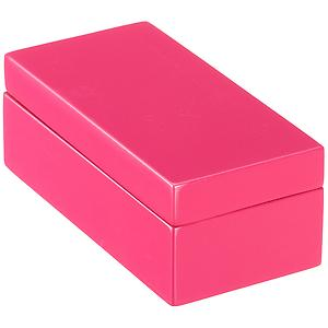 X-Small Lacquered Rectangular Box Fuchsia