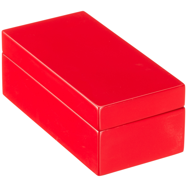 ... X Small Lacquered Rectangular Box Red ...