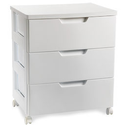 Premium 3-Drawer Cabinet White