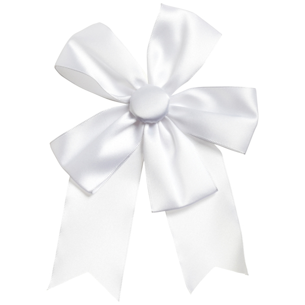 Satin Ribbon Bow White
