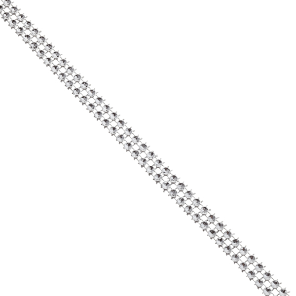 Narrow Diamond Wrap Silver