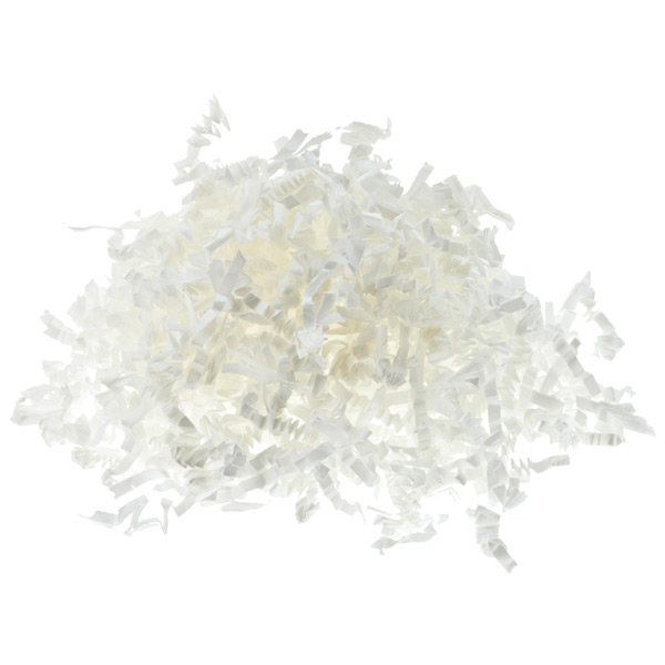 3 oz. Crinkle Cut Paper Shred White