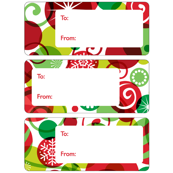 Gift Labels Graphic Ornaments Pkg/36