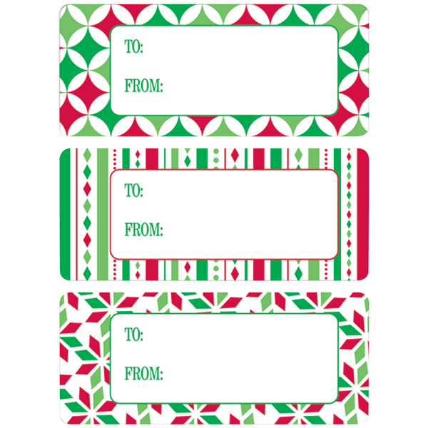 Adhesive To & From Gift Labels Holiday Graphics Pkg/36
