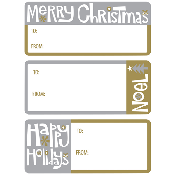 Adhesive To & From Gift Labels Holiday Greetings Pkg/36