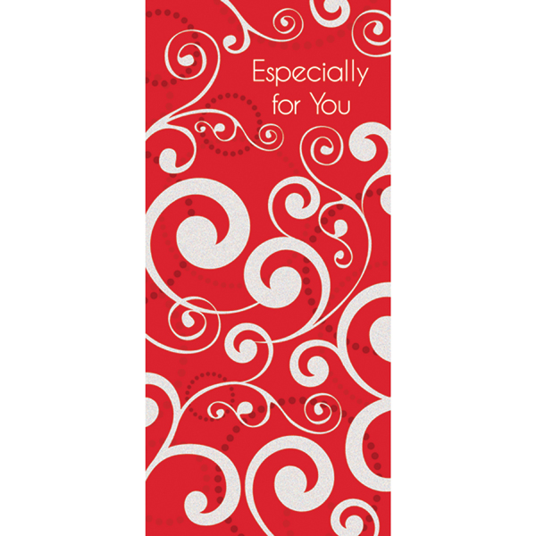 Money Enclosure Swirls Red/White Pkg/6