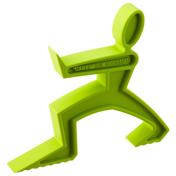 James the Doorman Door Stop Lime Green