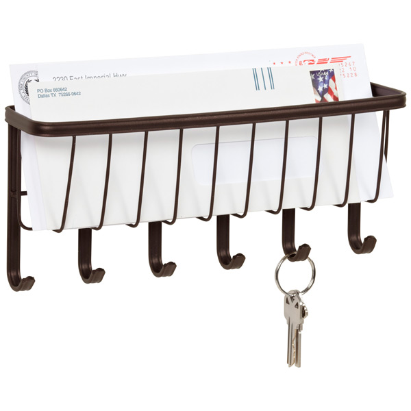 Bronze York Mail & Key Rack