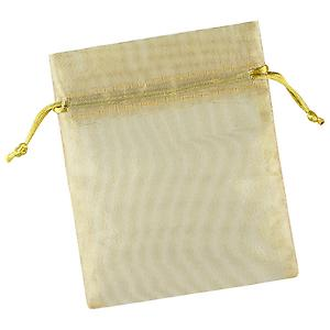 Organza Sacks Gold Pkg/3