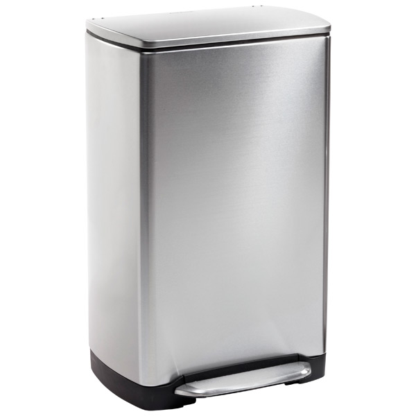 simplehuman 10 gal. Wide-Step Rectangular Can Stainless