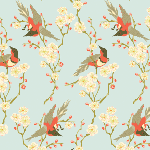Wrap Sheets Birds & Flowers Pkg/2
