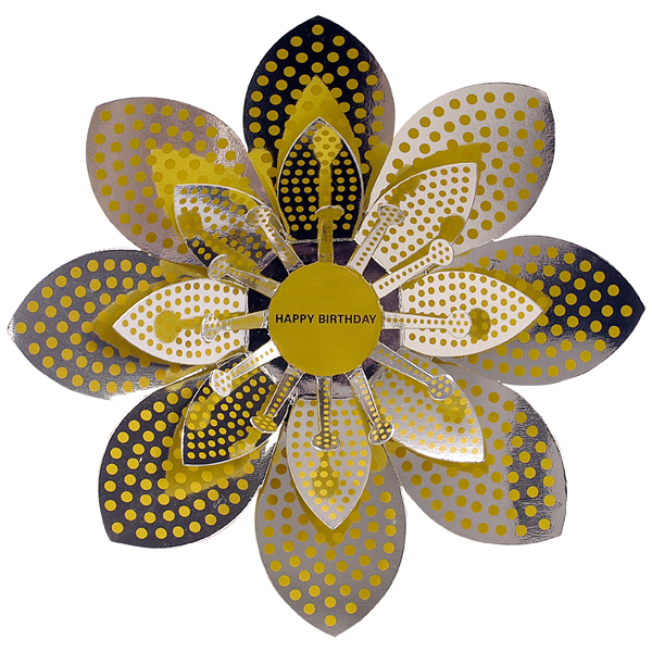 Gift Card Dots Bloom Yellow/Silver
