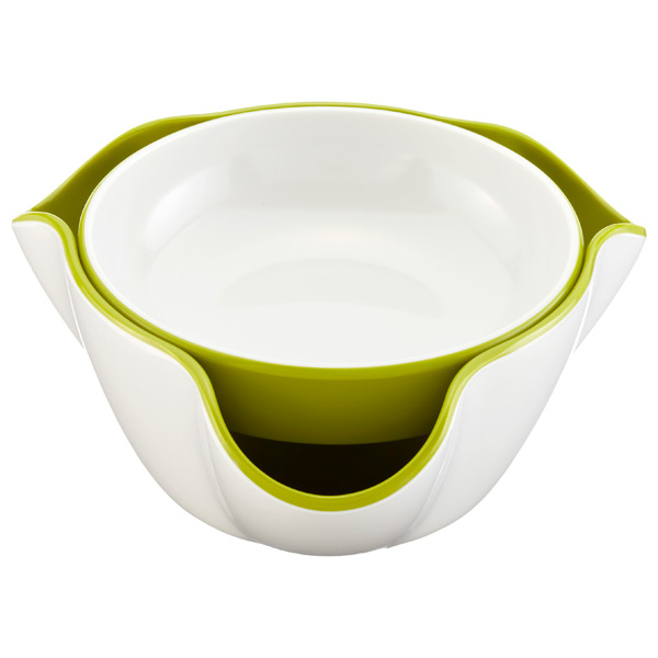 Double Dish™ White/Green