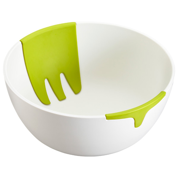 Hands On™ Salad Bowl White/Green