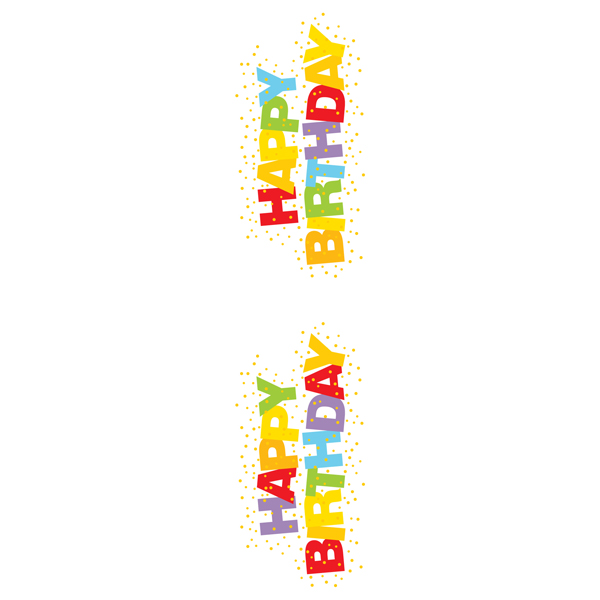 Sticker Sheets Happy Birthday Pkg/2