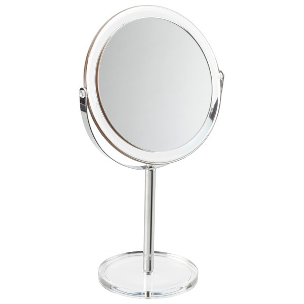 Countertop Pedestal Mirror Clear