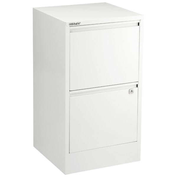 Beau Bisley White 2  U0026 3 Drawer Locking Filing Cabinets