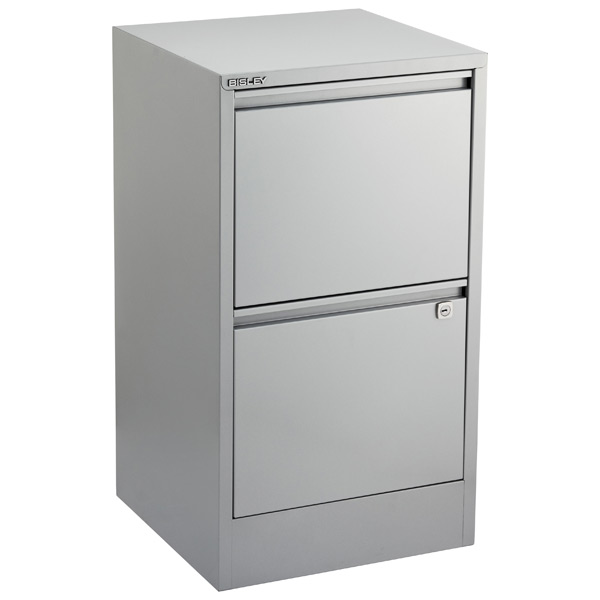 Bisley® 2-Drawer File Cabinet Silver
