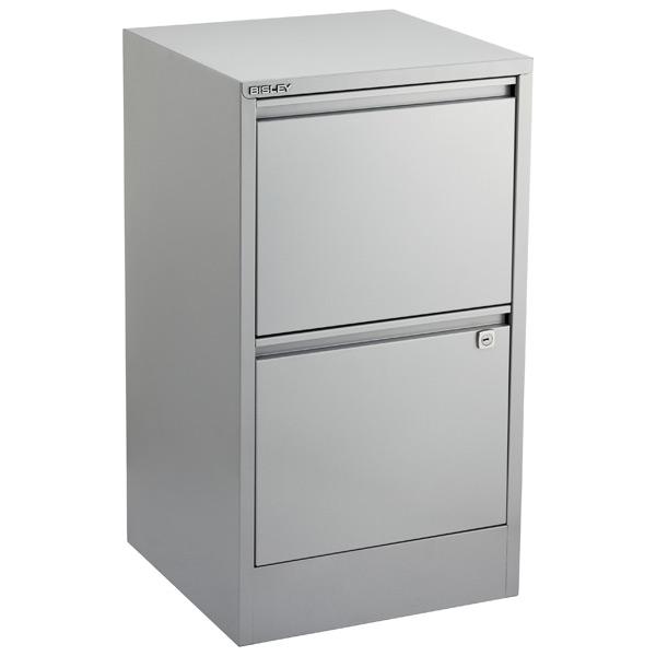 bisley silver 2- & 3-drawer locking filing cabinets | the container 2 drawer locking file cabinet