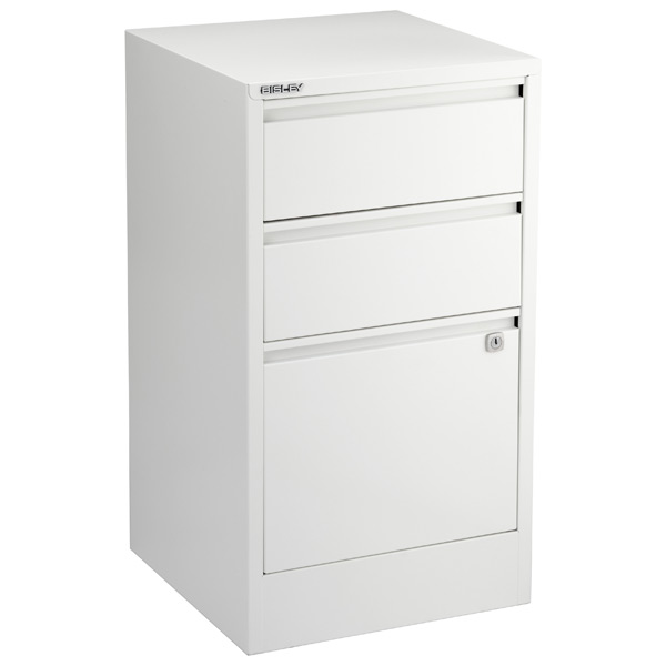 Bisley® 3-Drawer File Cabinet White