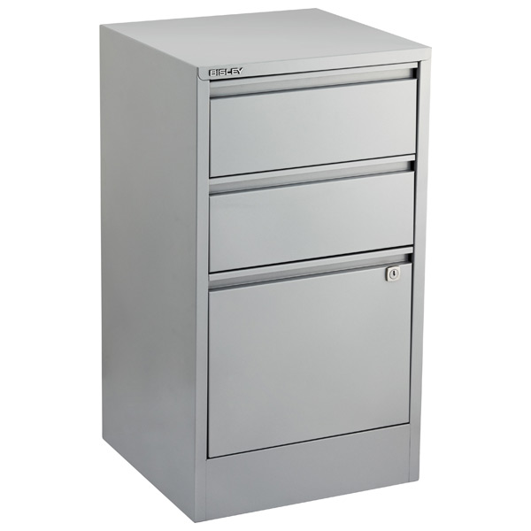 Bisley® 3-Drawer File Cabinet Silver