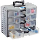 4-Drawer Storage Chest Grey