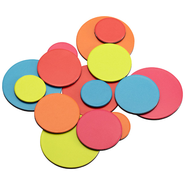 Color Dot Magnets Brights Pkg/15