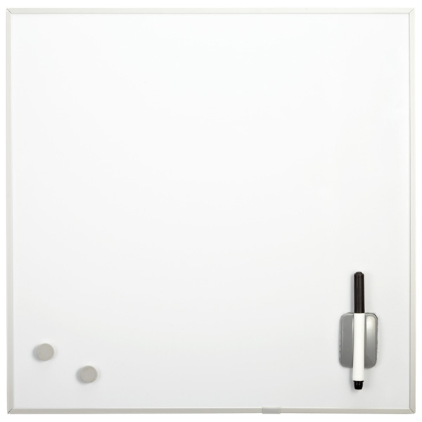 Square Magnetic Dry Erase Board White