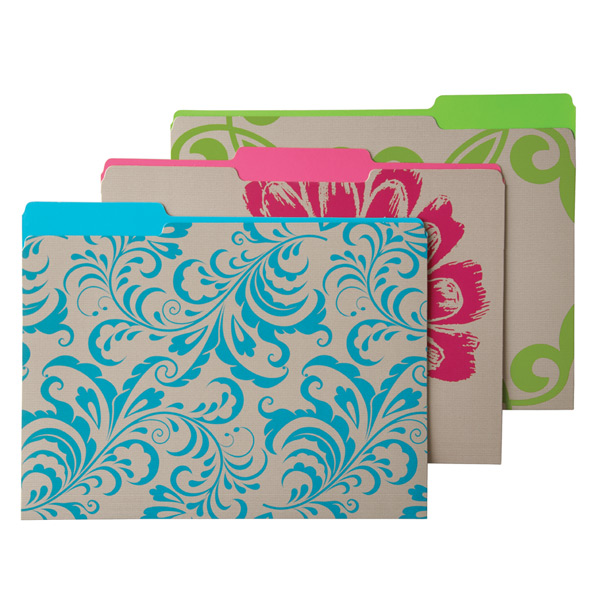 Letter-Size Interior File Folders Terrace Pkg/6