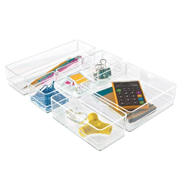 acrylic drawer organizer set the container store rh containerstore com desk drawer organizers and accessories desk drawer organizers amazon