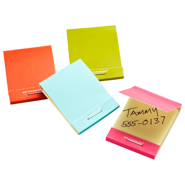 Matchbook Sticky Notes Assorted Pkg/4