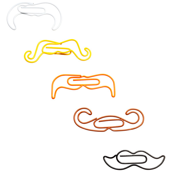 Moustache Paper Clips Assorted Pkg/5
