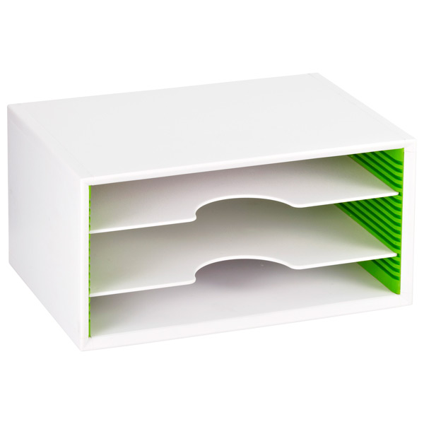 Small Adjustable Paper Sorter White