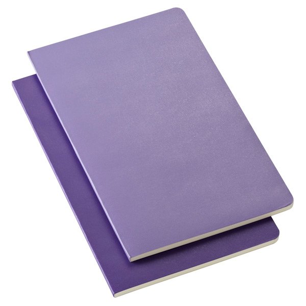 Large Moleskine® Volant Notebooks Purple Pkg/2