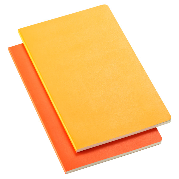 Large Moleskine® Volant Notebooks Yellow/Orange Pkg/2