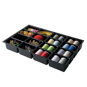 Bisley 16-Compartment Deep Drawer Insert Black