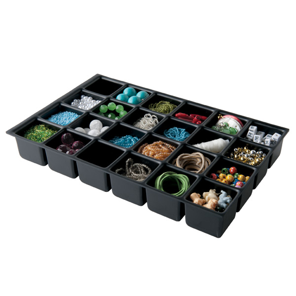 Bisley® 24-Compartment Deep Drawer Insert Black