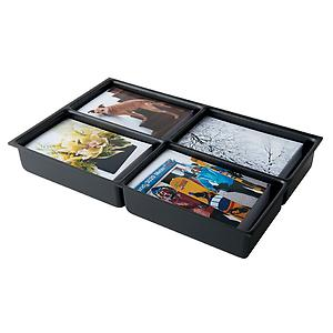 Bisley 4-Compartment Deep Drawer Insert Black