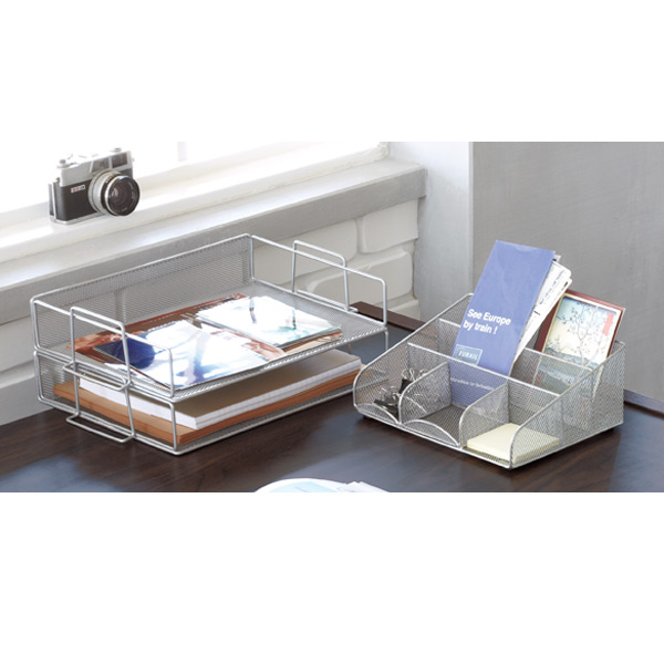 Magnificent Silver Mesh Desk Station Home Remodeling Inspirations Cosmcuboardxyz